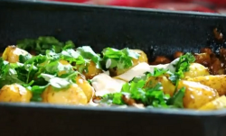 john Torode's roast potatoes with chickpeas and yoghurt on John and Lisa's Weekend K ...
