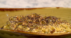 Sue Quinn Gorgonzola  cheese with chocolate pasta on Sunday Brunch