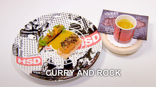 Hrishikesh Desai's Curry and Rock fish course  on the Great British Menu