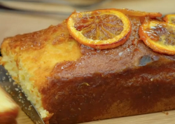 Caroline flack's sticky orange marmalade drizzle cake on Great Celebrity Bake Off Stand Up ...