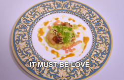 Gordon Jones It Must Be Love langoustine fish dish on the Great British Menu