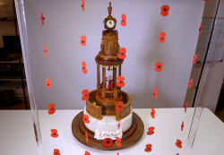 Suzanne's  Poppy Drop Cake for Lloyds of London on Extreme Cake Makers