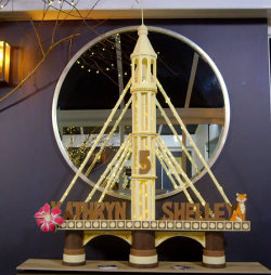 Evelyn Day's Albert Bridge chocolate sculpture for Kathryn and Shelley on Extreme chocolat ...
