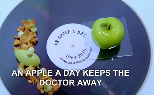 Alex Greene An Apple A Day Keeps The Doctor Away dessert on the Great British Menu