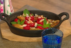 Matt Tebbutt Brazilian French toast with raspberries and honey on Saturday Kitchen