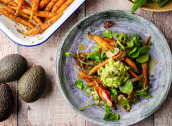 Simon Rimmer Carrot and Avocado Salad on Sunday Brunch