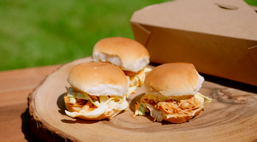 Tilly's chicken sliders mini burgers on Matilda and the Ramsay Bunch