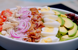 Tilly's cobb salad with ranch dressing on Matilda and the Ramsay Bunch