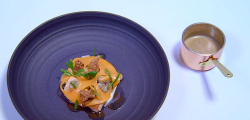 Alex Greene's Coney Island and Dundrum bay fish course on the Great British Menu