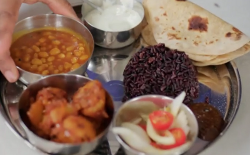 Nitin Ganatra's curry beans and potatoes  on The One Show