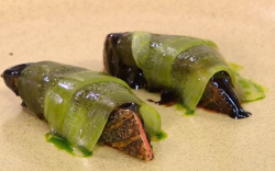 Gareth Ward's Hoisin Duck with pickled cucumber on James Martin's Saturday Morning