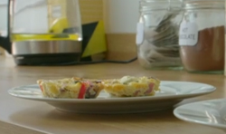 Bec's roast veg with ham and feta frittata on Eat well for Less?