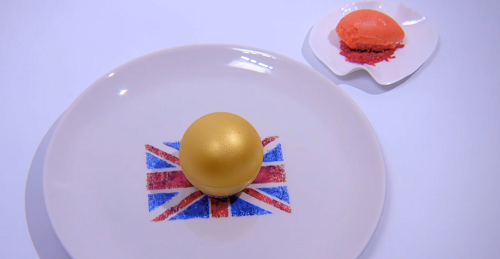 Tom 'Westy' Westerland God Save The Queen dessert on the Great British Menu