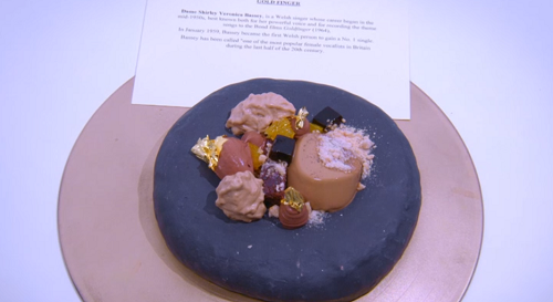 Andy Sheriden Goldfinger dessert with coffee and chocolate brownies on the Great British Menu