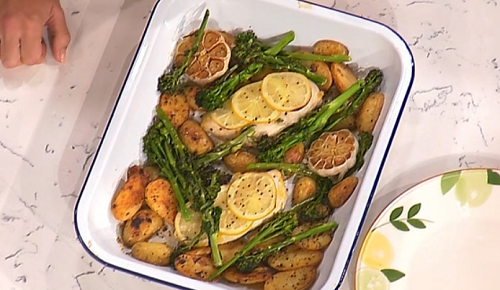 Davina's one pot lemon chicken with potatoes and broccoli  on This Morning