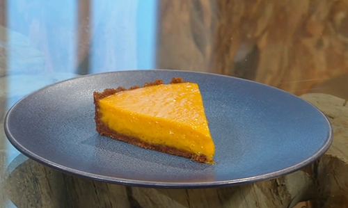 Samin Nosrat mango Pie with a digestive biscuit crust on Saturday Kitchen