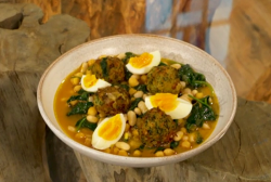 José Pizarro salt cod meatballs in a chickpea soup on Saturday Kitchen