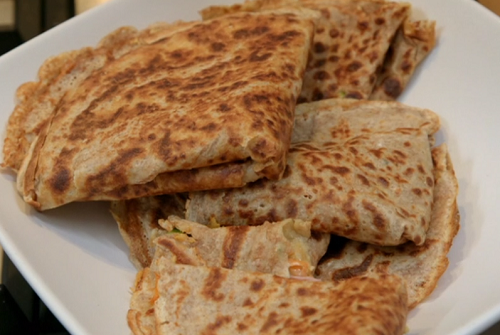 Chris and Bec's savoury pancakes on Eat well For Less?