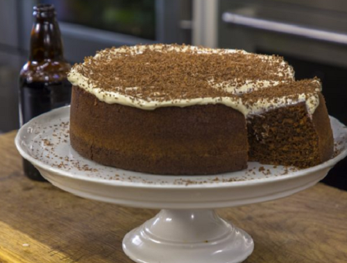 James Martin chocolate and Guinness cake on James Martin's Saturday Morning