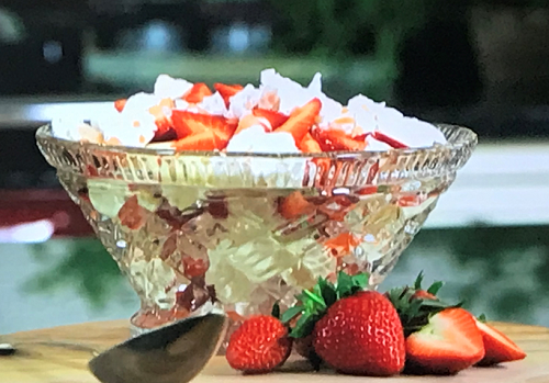 Kimberly Wyatt lemon meringue Eton mess on John and Lisa's Weekend Kitchen