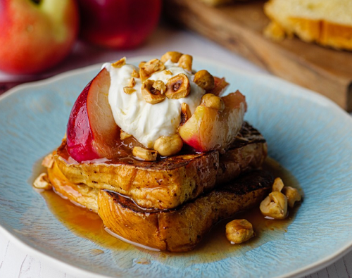 Simon Rimmer French Toast With Nectarines on Sunday Brunch