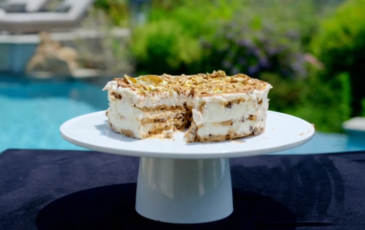 Tilly's no bake cake with mascarpone cheese, maple syrup, cookies and cream on Matilda and the R ...