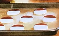 Lisa Faulkner's peppermint creams with chocolate sauce on John and Lisa's weekend Ki ...