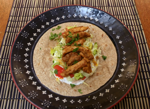 Douglas Gambling spiced chicken tacos on Eat Well For Less?