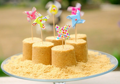 Tilly's sandcastle cheesecakes on Matilda and the Ramsay Bunch