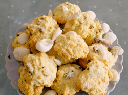 Megan's Cornish rock cakes with sea shells on Matilda and the Ramsay Bunch
