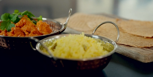Phil Vickery low calorie chicken tikka masala with basmati rice and chapati on on Save Money: Go ...