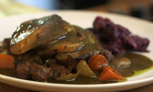 Jennie Mcalpine's Lancashire lamb hotpot with mint sauce and pickled cabbage on John and L ...
