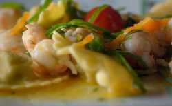 Chef Bruno's Ravioli Agli Scampi on Remarkable Places to Eat