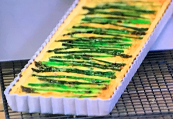 John Whaite's Lancashire cheese and asparagus quiche on Lisa's Weekend Kitchen