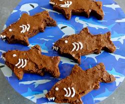 Jack's shark brownies with dark chocolate on Matilda and the Ramsay Bunch