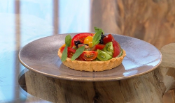 Bryn Williams tomato and Parmesan tart on Saturday Kitchen
