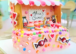 Alice's like a child in a sweet shop cake on The Great British Bake Off