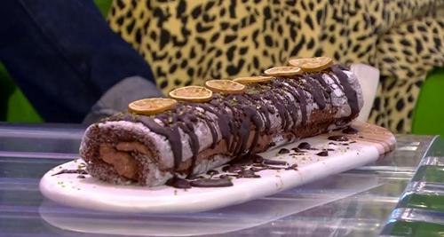 Nadiya Hussain chocolate lime roll on The One show