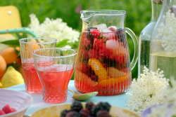 Nadiya Hussain elderflower cooler with lemon and orange on Nadiya's Summer Feasts