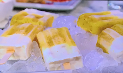Rachel Ama's Mango Chia Seed Passion Fruit Ice Lollies on Sunday Brunch