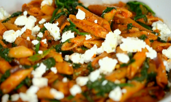 Dale Pinnock penne with goats cheese pasta on Eat, Shop, Save