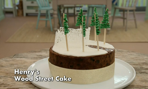 Henry's wood street fruit cake on The Great British Bake off