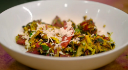 Radhika's beetroot sabzi on Jamie Oliver Meat-Free meals