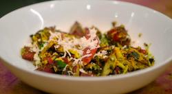 Radhika's beetroot sabzi on Jamie Oliver Meat-Free meals