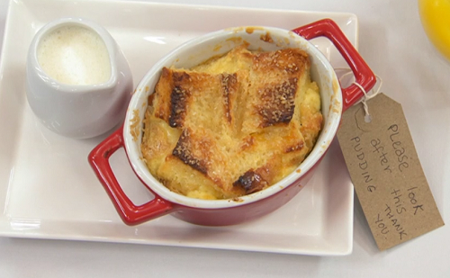Jenny Ryan Paddington posh bread and butter pudding with marmalade and a Peruvian cocktail on Ce ...