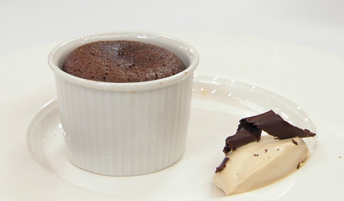 Greg Rutherford's chocolate hot pot with boozy cream on Celebrity Masterchef 2019