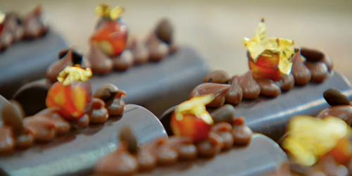 Henry's coffee with cardamom and hazelnut bars on The Great British Bake Off 2019