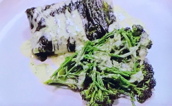 Steamed pollock with Japanese dashi beurre blanc (French butter sauce ) on Tom Kerridge's  ...