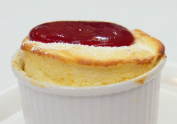 Dillian Whyte's raspberry and passionfruit souffle on Celebrity Masterchef 2019
