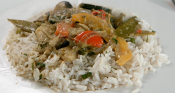 Joey Essex's Thai green vegetable curry with rice and lentils on Celebrity Masterchef 2019
